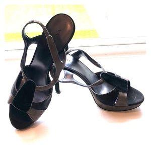 Nine West size 9.5 heels black and grey